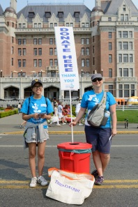 Donation barrel volunteers at the 2017 Victoria Symphony Splash.