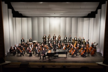 In celebration of their 75th anniversary, the Symphony embarked on a cross-country tour with soloist Stewart Goodyear. This group photo was taken on Jan. 31, 2015.