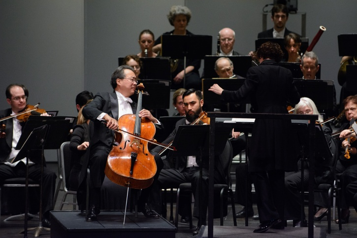 Yo-Yo Ma performs Dvorak's Cello Concerto with the Victoria Symphony on Dec. 7, 2015