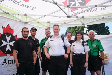 St. John's Ambulance crew at the start of the 2019 Victoria Symphony Splash.