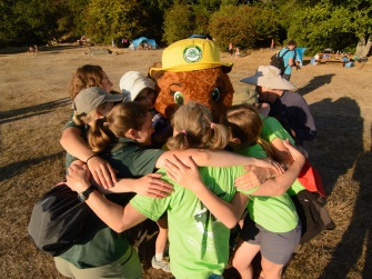 Huddling with Parka after the BioBlitz dance